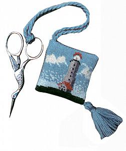 Набор для вышивания аксессуара для ножниц Le Bonheur Des Dames «Porte – ciseaux phare» 3330