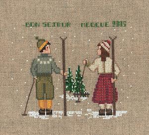Набор для вышивания крестом Le Bonheur Des Dames «Deux skieurs» 2328