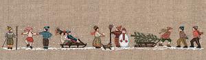 Набор для вышивания крестом Le Bonheur Des Dames «Skieurs» 3638