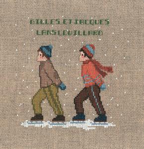 Набор для вышивания крестом Le Bonheur Des Dames «Deux patineurs» 2323