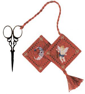 Набор для вышивания аксессуара для ножниц Le Bonheur Des Dames «Porte-ciseaux ange canevas» 3344