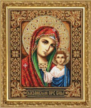 Набор для вышивания бисером Золотые ручки «Казанская икона Божией Матери» И-005
