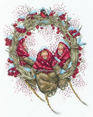 Набор для вышивки крестом РТО «Снегирини» M822