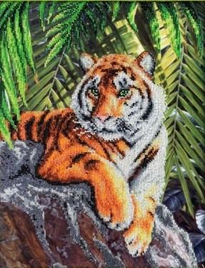 Набор для вышивки бисером Паутинка «Тигр» Б-1414