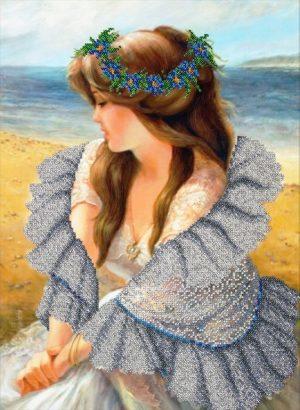 Набор для вышивки бисером Паутинка «В ажурной шали» Б-1483