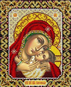 Набор для вышивки бисером Паутинка «Богородица Корсунская» Б-1092