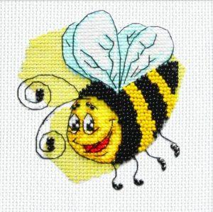 Набор для вышивки в смешанной технике Паутинка «Пчелка» БК-111