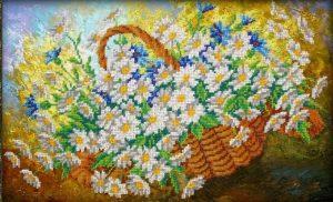 Набор для вышивки бисером Паутинка «Ромашки» Б-1239