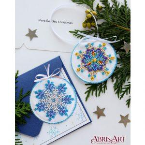 Набор для вышивки бисером Абрис Арт «Маленькая снежинка» ABT-015