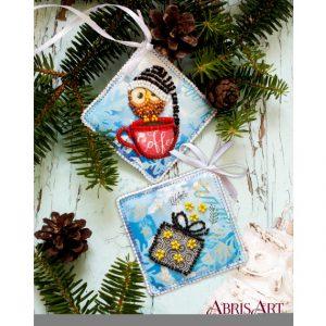Набор для вышивки бисером Абрис Арт «Зимняя совушка» ABT-016