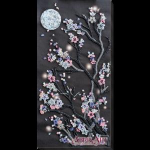 Набор для вышивки бисером Абрис Арт «Ночная сакура» AB-762