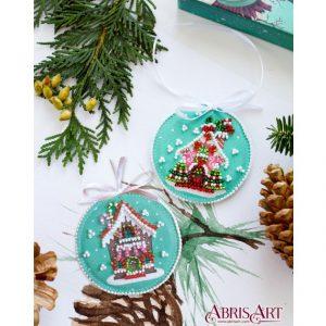 Набор для вышивки бисером Абрис Арт «Новогодний домик» ABT-020