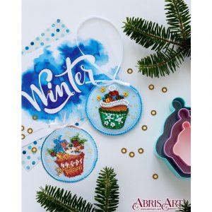 Набор для вышивки бисером Абрис Арт «Новогодние сладости» ABT-019