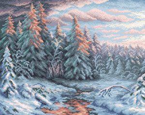 Алмазная мозаика Brilliart (М.П.Студия) «Зимний закат» МС-004