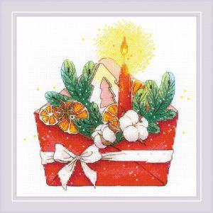 Набор для вышивания крестом Риолис «Новогоднее письмо» 1907