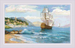 Набор для вышивания крестом Риолис «К далеким берегам» 1900