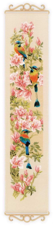 Набор для вышивания крестом Риолис «Тропические птички» 1905