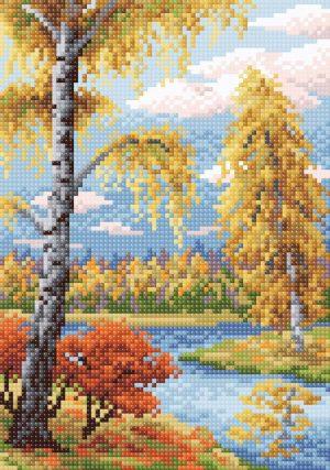 Алмазная мозаика Brilliart (М.П.Студия) «Осенний пейзаж» МС-010
