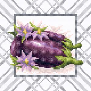 Алмазная мозаика Brilliart (М.П.Студия) «Яркий баклажан» МС-032