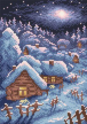 Алмазная мозаика Brilliart (М.П.Студия) «Зимний пейзаж» МС-005
