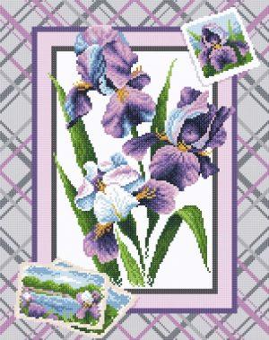Алмазная мозаика Brilliart (М.П.Студия) «Букет ирисов» МС-040