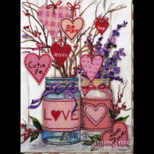Набор для вышивки бисером Абрис Арт «О любви» AB-729