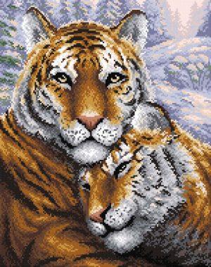 Алмазная мозаика Brilliart (М.П.Студия) «Тигры» МС-020