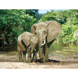 Алмазная мозаика Фрея «Слоны» ALV-4 01