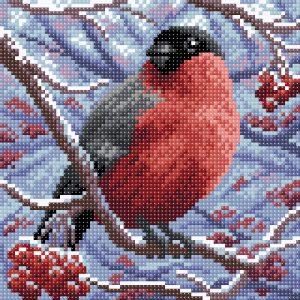 Алмазная мозаика Brilliart (М.П.Студия) «Снегирь» МС-002