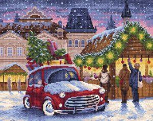 Алмазная мозаика Brilliart (М.П.Студия) «Рождественская ярмарка» МС-007
