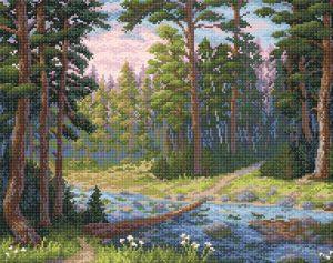 Алмазная мозаика Brilliart (М.П.Студия) «Лесная речка» МС-003