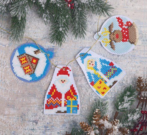 Алмазная мозаика Фрея «Дед Мороз и Снегурочка» ALCH-002 4