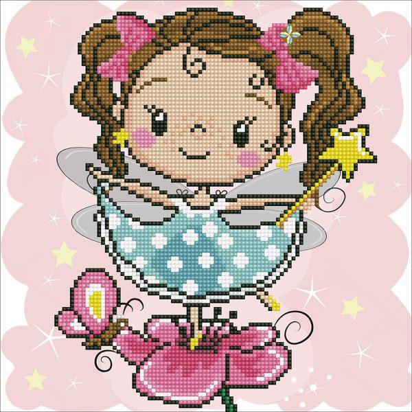 Алмазная мозаика Фрея «Маленькая фея» ALV-91