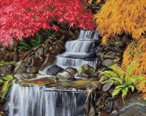 Алмазная мозаика Фрея «Горный водопад» ALVA-06