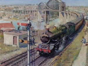 Алмазная мозаика на подрамнике Painting Diamond «Поезд Корнуолл Ривьера» GF1575