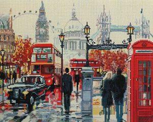 Алмазная мозаика на подрамнике Painting Diamond «Прогулка по Лондону» GF1724