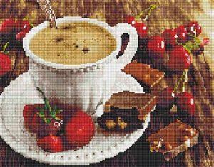 Алмазная мозаика на подрамнике Painting Diamond «Кофе и шоколад» GF1919