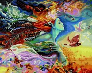 Алмазная мозаика на подрамнике Painting Diamond «Мать природа» GF0369