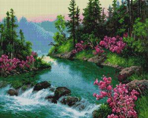 Алмазная мозаика на подрамнике Painting Diamond «Извилистая речка» GF3997
