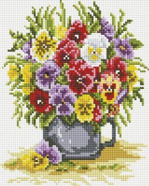 Алмазная мозаика на подрамнике Белоснежка «Цветочное счастье» 551-ST-S