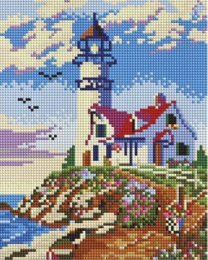 Алмазная мозаика на подрамнике Белоснежка «Старый маяк» 546-ST-S