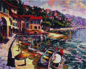Алмазная мозаика на подрамнике Painting Diamond «Приморский пейзаж» GF4551