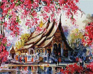 Алмазная мозаика на подрамнике Painting Diamond «Весенний Таиланд» GF2225