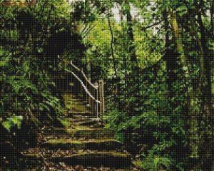 Алмазная мозаика на подрамнике Painting Diamond «Дорожка в лесу» GF4339
