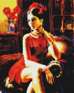 Алмазная мозаика на подрамнике Painting Diamond «Женщина загадка» GF3843