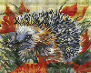 Алмазная мозаика на подрамнике Белоснежка «Ежик в осеннем лесу» 558-ST-S
