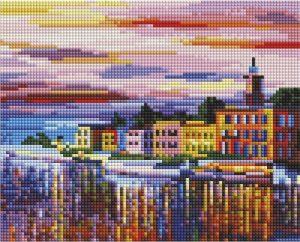 Алмазная мозаика на подрамнике Белоснежка «Озеро Комо - Белладжио» 541-ST-S