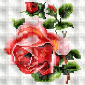 Алмазная мозаика на подрамнике Белоснежка «Изящная роза» 465-ST-PS