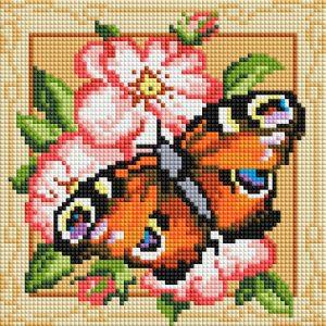 Алмазная мозаика на подрамнике Белоснежка «Павлиний глаз» 467-ST-PS