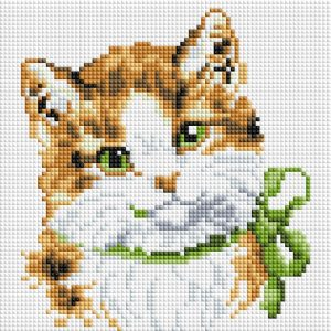 Алмазная мозаика на подрамнике Белоснежка «Кошка Алиса» 451-ST-PS